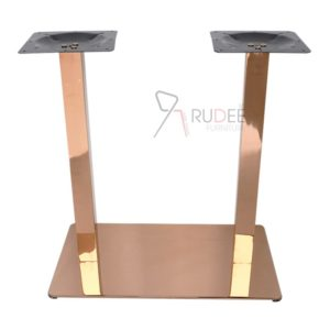 ขาโต๊ะสแตนเลส ขาคู่ rosegold RD-FT-B025C-3