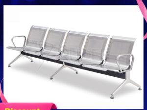 เก้าอี้สาธารณะสแตนเลส5ที่นั่ง