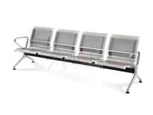เก้าอี้แถว4ที่นั่ง โครงสแตนเลส201