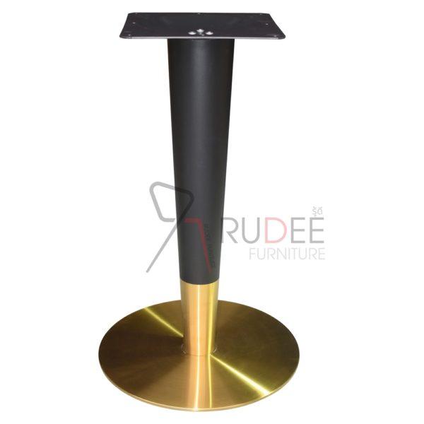 ขาโต๊ะสแตนเลสสีทอง แกนเรียวรมดำ