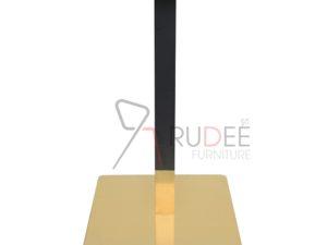 ขาโต๊ะสแตนเลสสีทอง ฐานเหลี่ยม แกนเหลี่ยมดำทอง