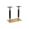 ขาโต๊ะสแตนเลสสีทอง แกนเสาคู่รมดำ
