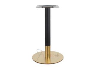 ขาโต๊ะสแตนเลสสีทอง ฐานกลมรมดำ