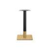 ขาโต๊ะสแตนเลสสีทอง ฐานเหลี่ยมรมดำ