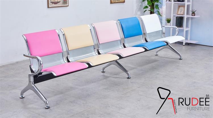 เก้าอี้แถวแฟชั่น เบาะหุ้มหนังเลือกสีได้