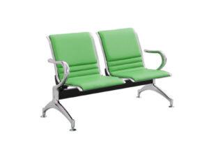 เก้าอี้แถว2ที่นั่งหุ้มหนังเต็มตัว