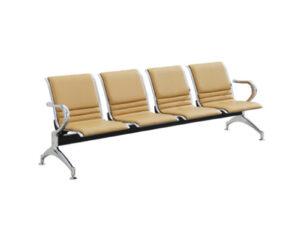 เก้าอี้แถว4ที่นั่งหุ้มหนังเต็มตัว