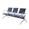 เก้าอี้แถว3ที่นั่งหุ้มเบาะหนังโครงสแตนเลส201 หุ้มเบาะหนัง