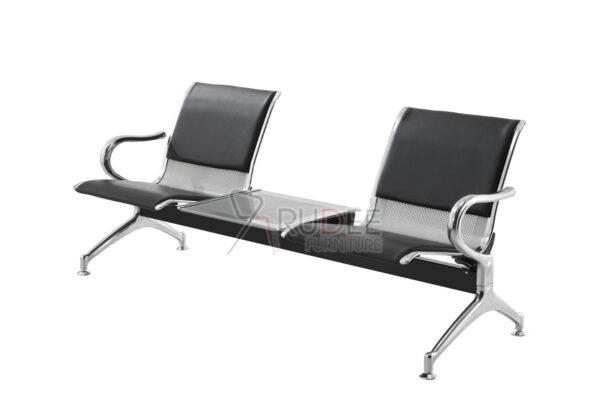 เก้าอี้แถวแบบ2ที่นั่งเบาะหุ้มหนัง