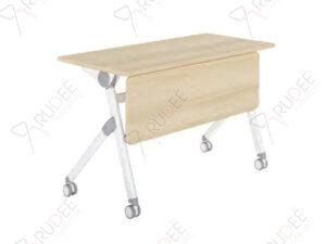 โต๊ะเทรนนิ่ง หน้าท็อปพับได้ มีล้อ