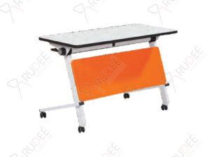 โต๊ะเทรนนิ่ง โต๊ะพับอเนกประสงค์ Training Table ผ่านกระบวนการผลิตด้วยความพิถีพิถัน ด้วยฝีมือช่างด้วยความชำนาญ หน้าท็อป วัสดุไม้MDF