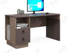 โต๊ะทำงานแบบ1ที่นั่ง1.4m. ตู้ข้างโปร่ง Mason Series