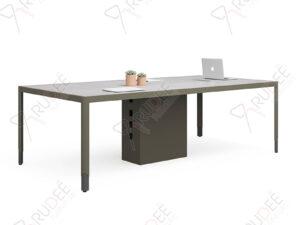 โต๊ะประชุม Meeting table 2.4m.ขาโปร่ง Hancock Series