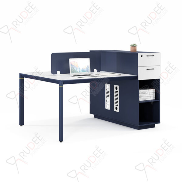โต๊ะทำงานแบบ2ที่นั่ง1.6m. มีตู้สูง PERFECT Series