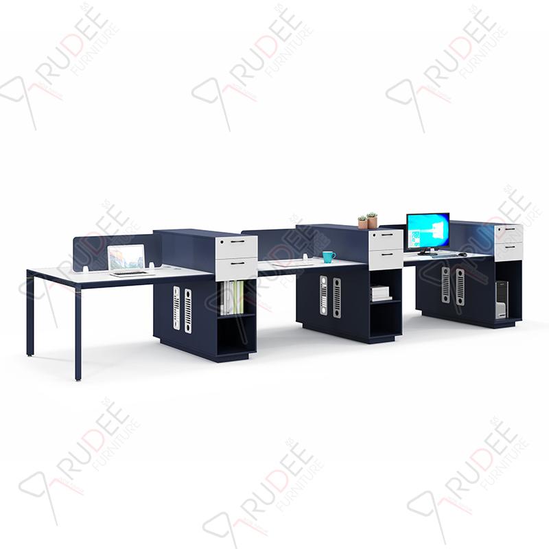 โต๊ะทำงานแบบ6ที่นั่ง4.8m.ตู้ข้างสูง PERFECT Series