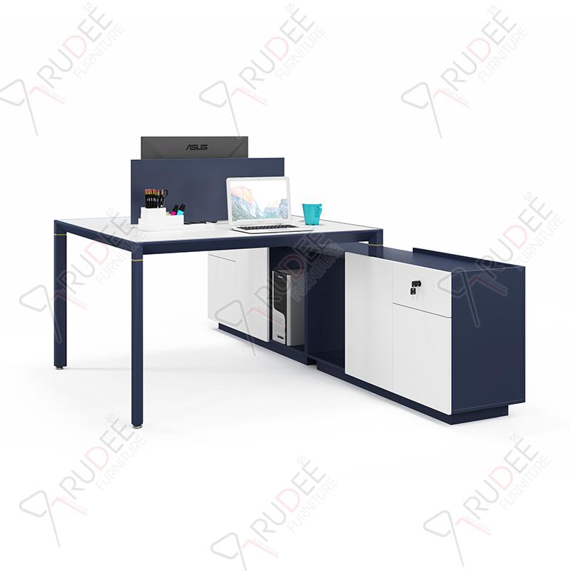 โต๊ะทำงานแบบ2ที่นั่ง1.5m.ตู้ข้างยาวคู่ PERFECT Series
