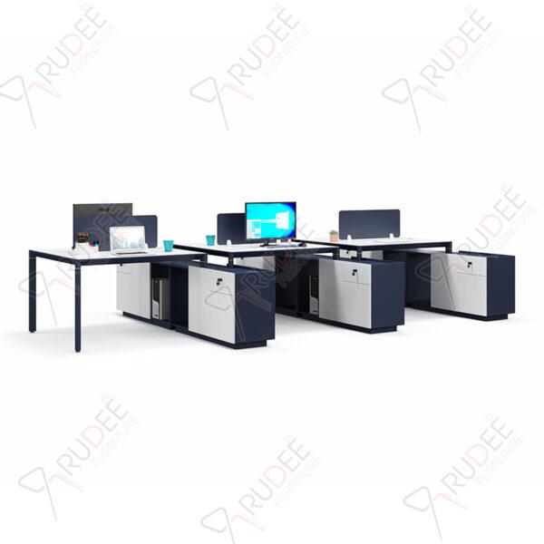 โต๊ะทำงานแบบ6ที่นั่ง4.3m. PERFECT Series