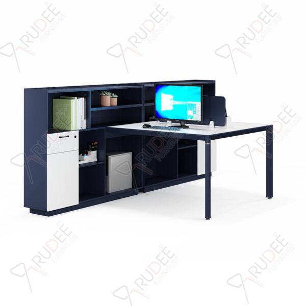 โต๊ะทำงานแบบ2ที่นั่ง1.5m.ตู้ข้าง PERFECT Series