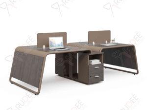 โต๊ะทำงานแบบคู่4ที่นั่ง 2.4m. NORDIC Series