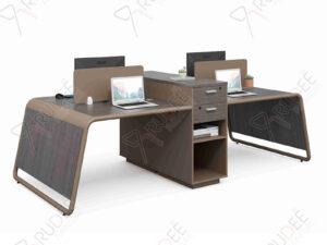 โต๊ะทำงานแบบคู่4ที่นั่ง 2.8m. NORDIC Series