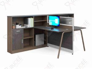 โต๊ะทำงาน2ที่นั่งพร้อมที่กั้น 1.5m. NORDIC Series