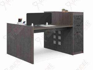 โต๊ะทำงานออฟฟิต2ที่นั่ง ตู้ข้างสูง1.6m. Rhythm Series