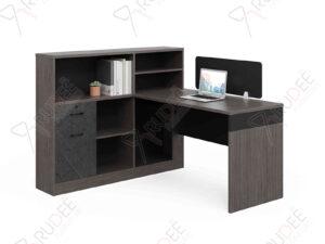 โต๊ะทำงานออฟฟิต1ที่นั่ง ตู้ข้างสูง1.5m. Rhythm Series