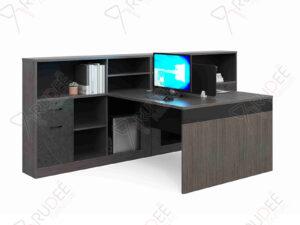 โต๊ะทำงานออฟฟิต2ที่นั่ง ตู้ข้างสูง1.5m. Rhythm Series