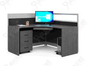 โต๊ะทำงานออฟฟิต1ที่นั่งแบบเข้ามุม Rhythm Series