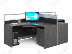 โต๊ะทำงานออฟฟิต2ที่นั่งแบบเข้ามุม Rhythm Series