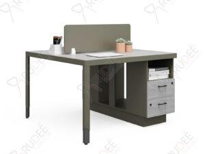 โต๊ะทำงานแบบ2ที่นั่ง1.2m. ตู้ข้างHancock Series