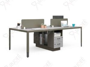 โต๊ะทำงานแบบ4ที่นั่ง2.4m.ตู้ข้างสูง Hancock Series