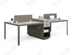 โต๊ะทำงานแบบ4ที่นั่ง2.8m.ตู้ข้างสูง Hancock Series