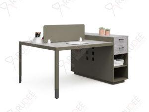 โต๊ะทำงานแบบ2ที่นั่ง1.6m. ตู้ข้างสูง Hancock Series