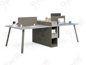 โต๊ะทำงานแบบ4ที่นั่ง2.7m.ตู้ข้างยาวคู่ Hancock Series