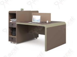 โต๊ะทำงานแบบ2ที่นั่ง1.6m. ตู้ข้างสูง Mason Series