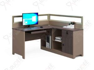 โต๊ะทำงานแบบ1ที่นั่ง1.4m. มีพาร์ทิชั่น Mason Series
