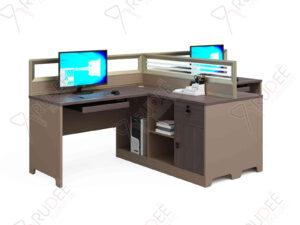 โต๊ะทำงานแบบ2ที่นั่ง2.8m. ตู้ข้างกลาง Mason Series