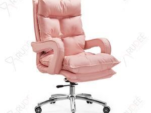 เก้าอี้หนังผู้บริหารหุ้มหนัง ฟองน้ำนุ่มนั่งสบาย รุ่นRD-FUX-LE-Pink-AA