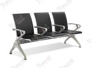 เก้าอี้สาธารณะ3ที่นั่ง เบาะหุ้มหนังเต็ม พนักพิงสูง