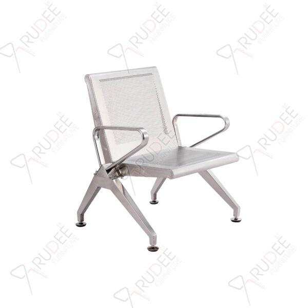 เก้าอี้แถวสแตนเลสแบบหนารุ่น1ที่นั่ง