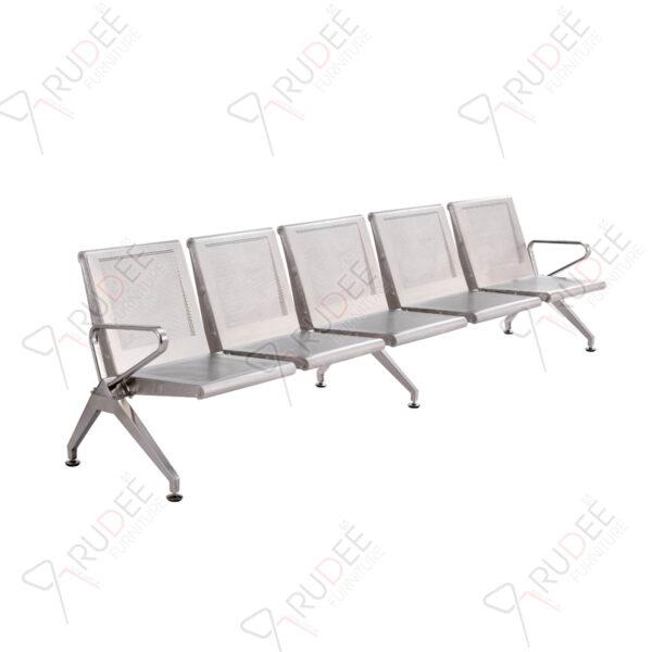เก้าอี้แถวสแตนเลสแบบหนารุ่น5ที่นั่ง