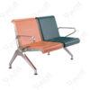 เก้าอี้สแตนเลส2ที่นั่งหุ้มเบาะPU