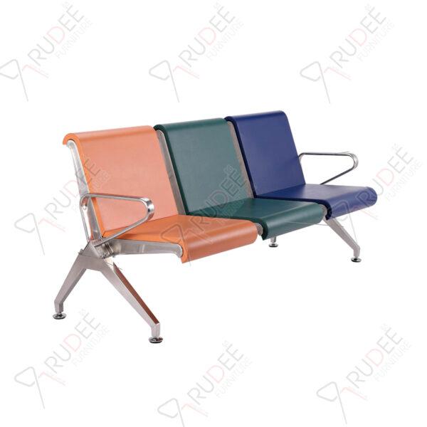 เก้าอี้สแตนเลส3ที่นั่งหุ้มเบาะPU