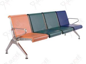 เก้าอี้สแตนเลส4ที่นั่งหุ้มเบาะPU