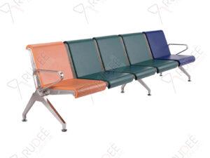 เก้าอี้สแตนเลส5ที่นั่งหุ้มเบาะPU