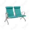 เก้าอี้สแตนเลส2ที่นั่ง หุ้มเบาะหนังพนังพิงสูง