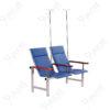 เก้าอี้แถวสแตนเลสหุ้มเบาะหนังรุ่น2ที่นั่ง+เสาน้ำเกลือ