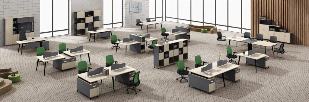 เฟอร์นิเจอร์ออฟฟิศ โต๊ะทำงาน สไตล์โมเดิร์นทันสมัย Ramsey Series