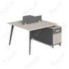 โต๊ะทำงานแบบ2ที่นั่ง1.3m.ขาทึบ